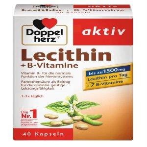 Mầm Đậu Nành Doppelherz Lecithin 1500 mg + Vitamin B, 40 Viên