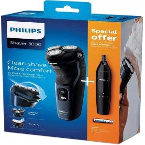 Máy cạo râu điện ướt & khô Philip Series 3000 S3134 / 57