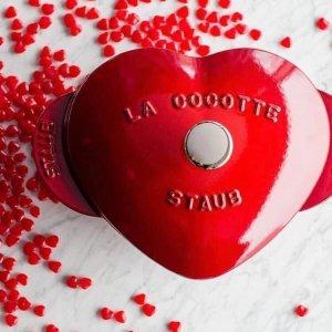Nồi trái tim Staub heart đỏ 20cm