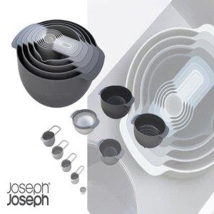 Set âu, rổ, đong Joseph Joseph 98468 Nest 9 Plus - Tonal Grey